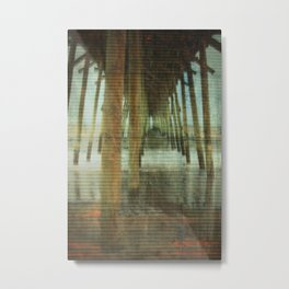 Kure Beach North Carolina Fishing Pier Metal Print