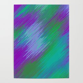 purple green and pink painting texture abstract background Poster