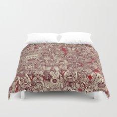 gargoyles red Duvet Cover