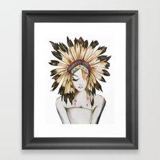 Girl in Headdress Framed Art Print