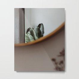 Plant interior view; greenterior banana tree  mirror art print home green plants  Metal Print