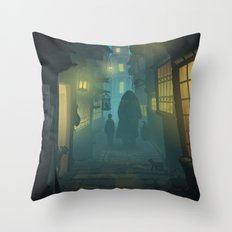 Diagon Alley Throw Pillow