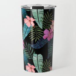 Island Goddess Tropical Black Travel Mug