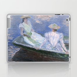 1887-Claude Monet-On the Boat-133 x 145 Laptop & iPad Skin