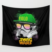 swag Wall Tapestries featuring Stormtrooper Swag by Heretic