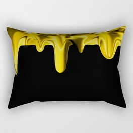 Drippin' Gold Rectangular Pillow