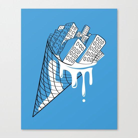 Snowy City Canvas Print