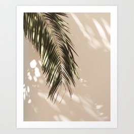 tropical palm leaves vi Art Print