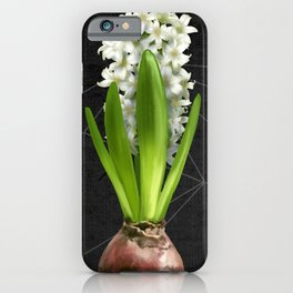White Hyacinth Hydroponics (tryptic 2/3) iPhone Case