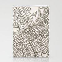 nashville Stationery Cards featuring Nashville Map by Zeke Tucker