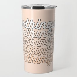 the queen of overthinking Travel Mug