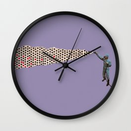Pulverize Wall Clock