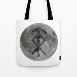 Viking bind rune 'Protection' on moon. Tote Bag