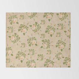 Floral Vintage Throw Blanket