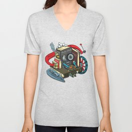 The Machine is one with your books Unisex V-Neck