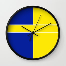 Team Colors 6..yellow,blue Wall Clock