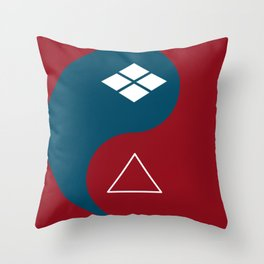samurai champloo- Yin Yang Throw Pillow