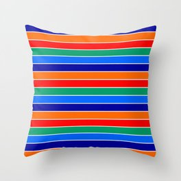 saint petersburg city flag stripes Throw Pillow