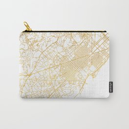 BARCELONA SPAIN CITY STREET MAP ART Carry-All Pouch