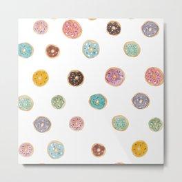 Sprinkled Donut Pattern Metal Print