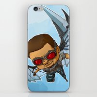 falcon iPhone & iPod Skins featuring Falcon by Meekobits