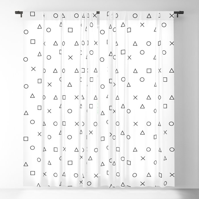 gaming pattern - gamer design - playstation controller symbols Blackout Curtain
