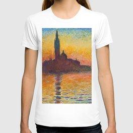 """Claude Monet """"San Giorgio Maggiore at Dusk"""" T-shirt"""