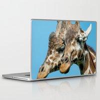 giraffes Laptop & iPad Skins featuring Giraffes  by LaMont Copeland Photography