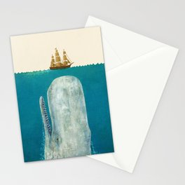 The Whale - colour option Stationery Cards
