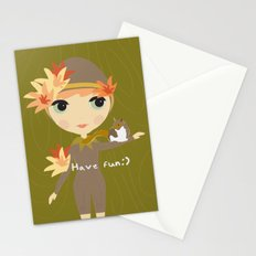 Forest Girl Stationery Cards