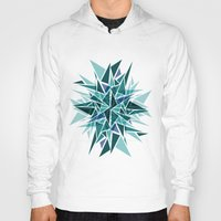 cracked Hoodies featuring Cracked Icicles by AJJ ▲ Angela Jane Johnston