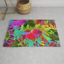 Floral Abstract Artwork G125 Rug