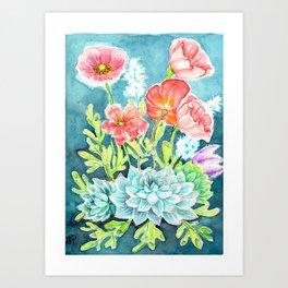 Botanical Aquarelle Art Print