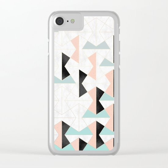 Mixed Material Tiles Clear iPhone Case