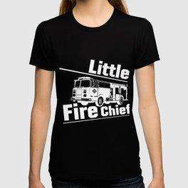 Little Boys' Little fire man chief Firefighter Funny T-shirt