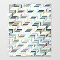 Herringbone Color Canvas Print