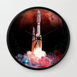 Space Launch Wall Clock