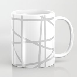Doodle (Gray & White) Coffee Mug