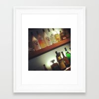 alcohol Framed Art Prints featuring Alcohol by Tianna Chantal