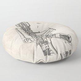 M16 Rifle Patent - Military Rifle Art - Antique Floor Pillow