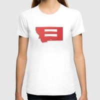 montana T-shirts featuring Montana Love by Tank Top Sunday