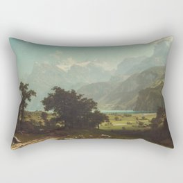 Lake Lucerne by Albert Bierstadt Rectangular Pillow