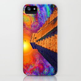 Mayan Pyramid   iPhone Case