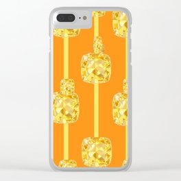 ABSTRACT YELLOW  CITRINES NOVEMBER  BIRTHSTONES ART Clear iPhone Case