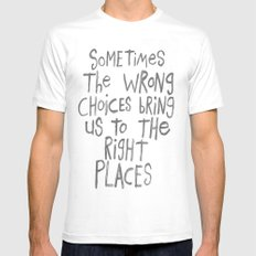SOMETIMES Mens Fitted Tee MEDIUM White