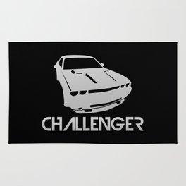 Dodge Challenger - silver - Rug
