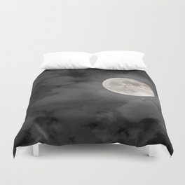 Cloudy Moonlit Night Duvet Cover