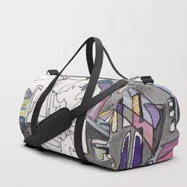 Kissing in New York City Duffle Bag