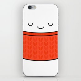 Keep warm, drink tea! iPhone Skin