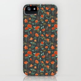 Sweet carnations (dark edition) iPhone Case